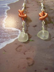 knotted seaglass earrings (2)