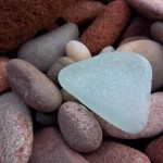 seaglass washed onto the beaches
