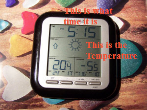 thermometer indoor/ outdoor