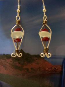 white seaglass earrings (2)