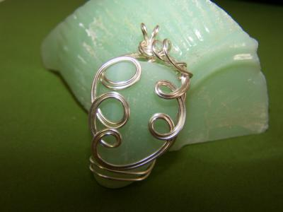 Jadeite seaglass wrapped