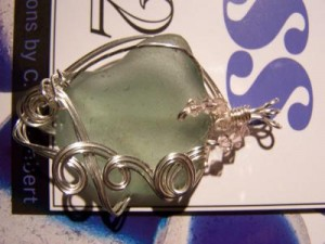 Sea glass wire wrapped
