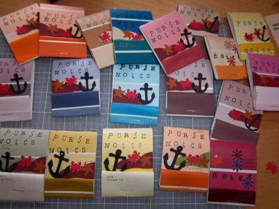 Turn your unused paint samples into mini note books