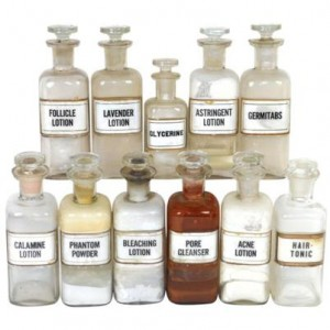 apothecary druggist bottles with glass bottle stoppers