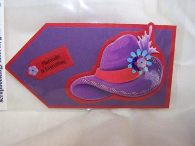 Red hatter scrapbook tags