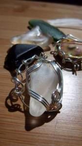 wrapped sea glass