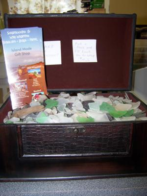 treasure chest of sea glass