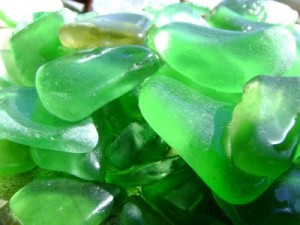 more green seaglass