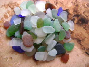 collected sea glass
