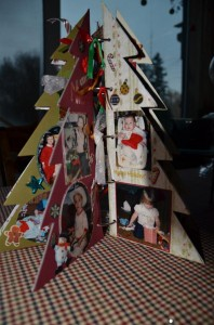 Scrapbooking a tree ringed photo album
