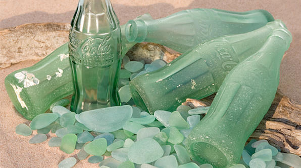 frosted seafoam green coke bottles