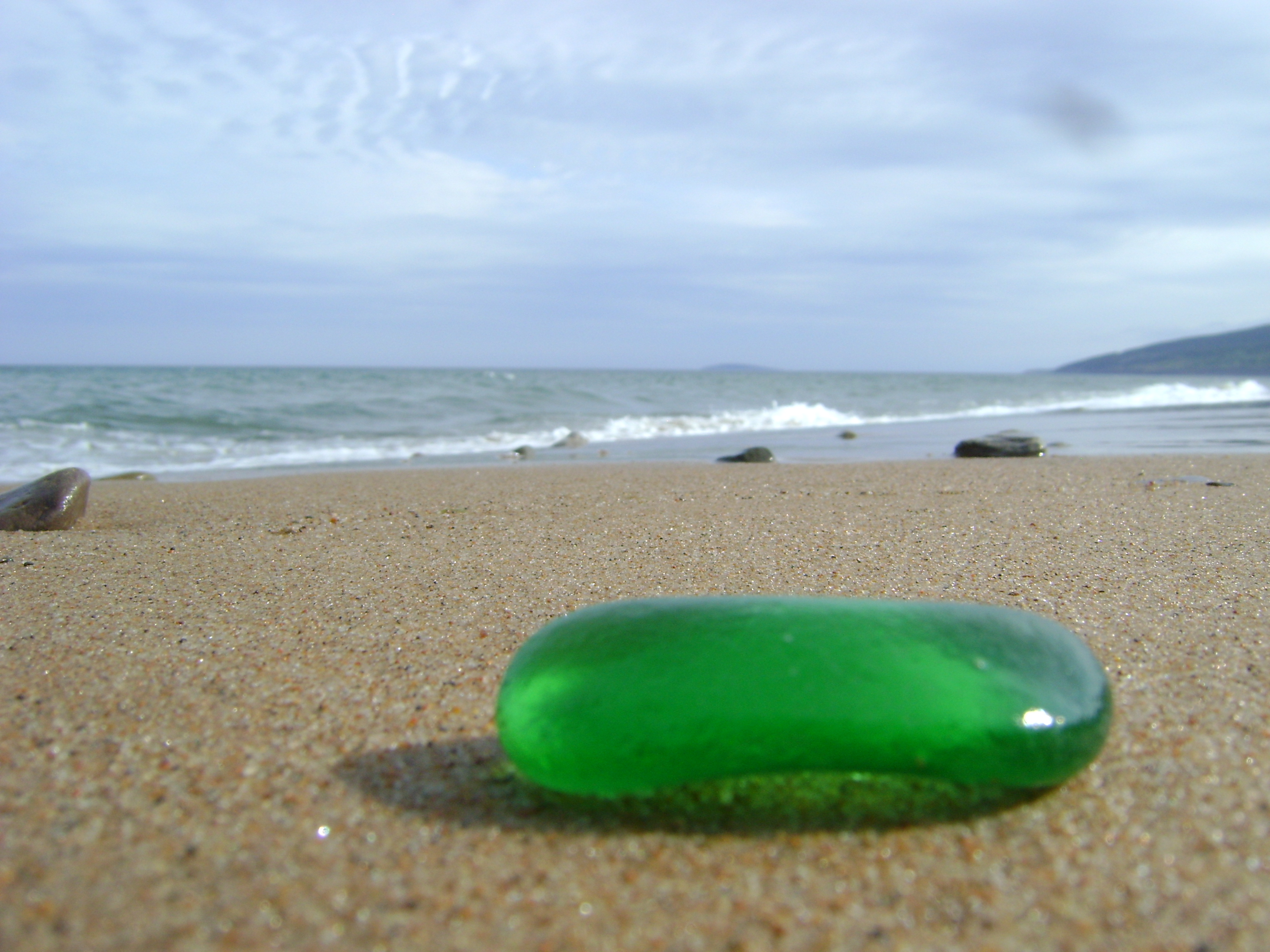 seaglass find on beach