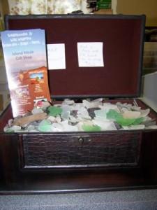 treasure chest of sea glass