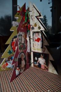 Scrapbooking a tree ringed photo album