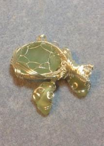 back seaglass pendant and earrings